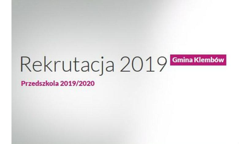 Dobre wyniki rekrutacji do przedszkoli i oddziałów przedszkolnych na rok szkolny 2019/2020